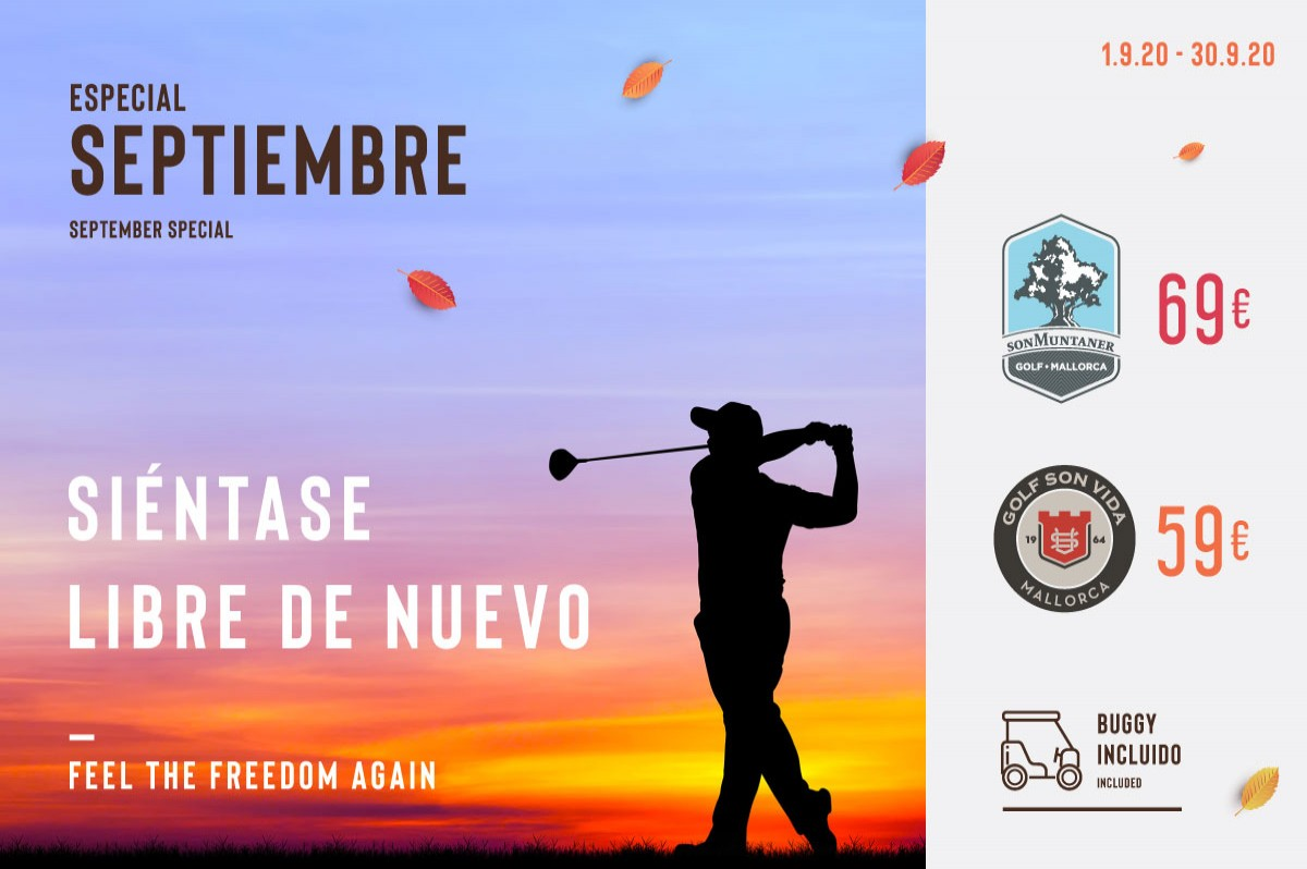 Feel the Freedom again in our golf courses