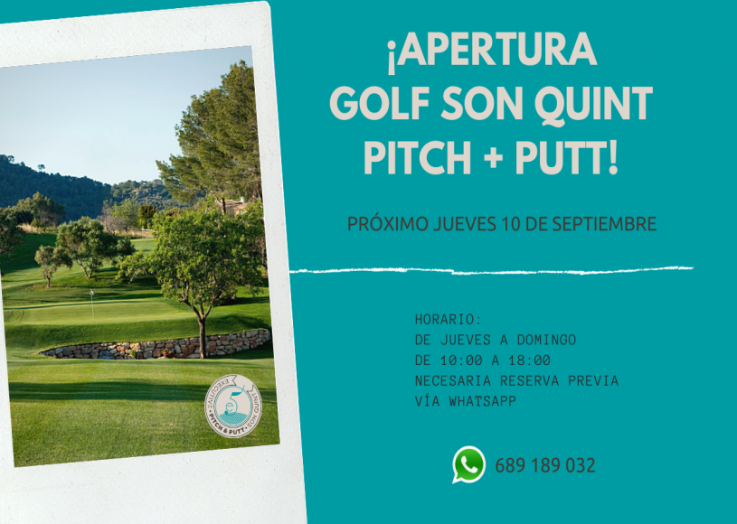 Opening of our Golf Son Quint Pitch & Putt